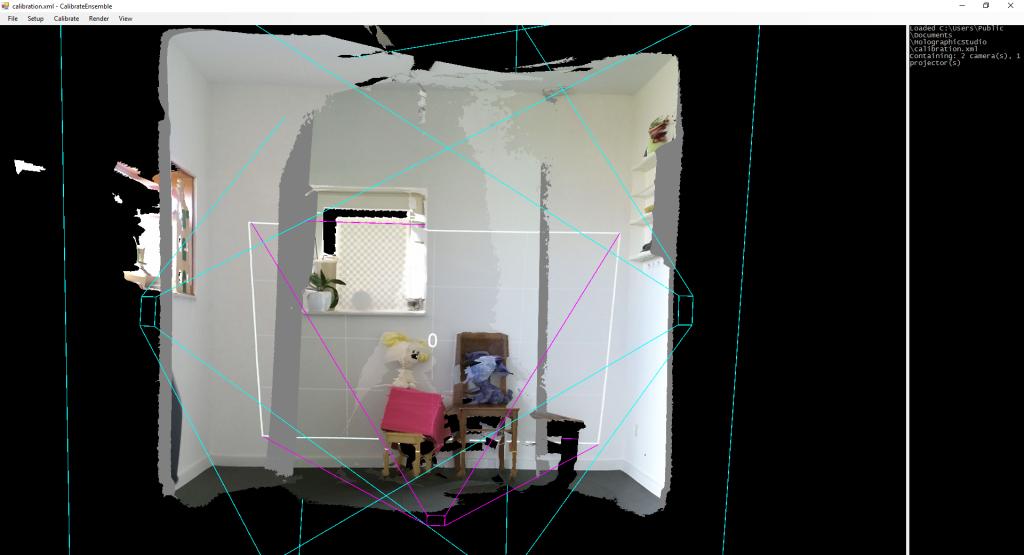 Holographic studio setup